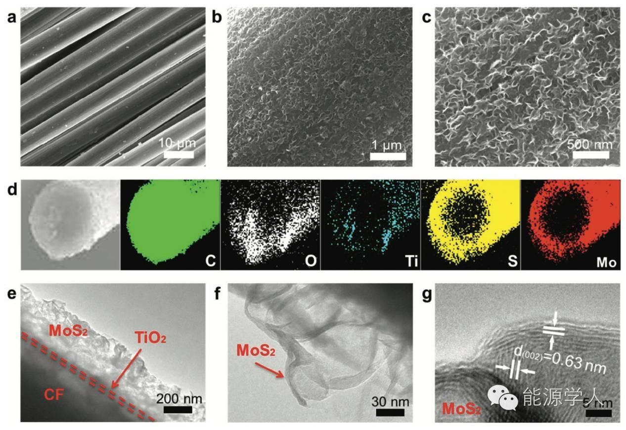 """""""全才型""""高活性MoS2纤维电极诞生"""