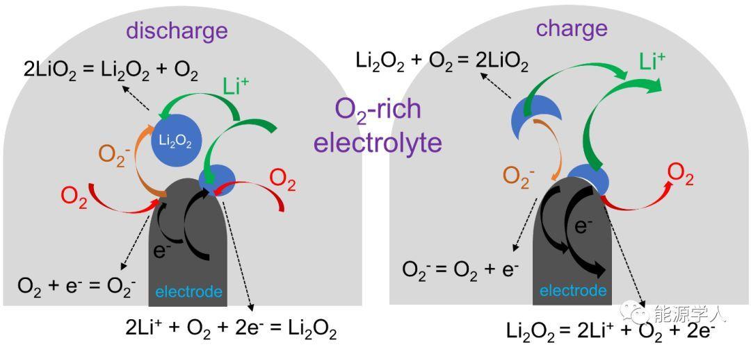 原位液态透射电子显微技术揭示锂空气电池工作的新机理