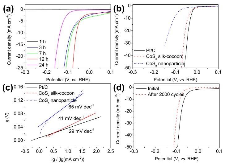 蚕茧状富硫多硫化钴材料作为高效析氢催化剂