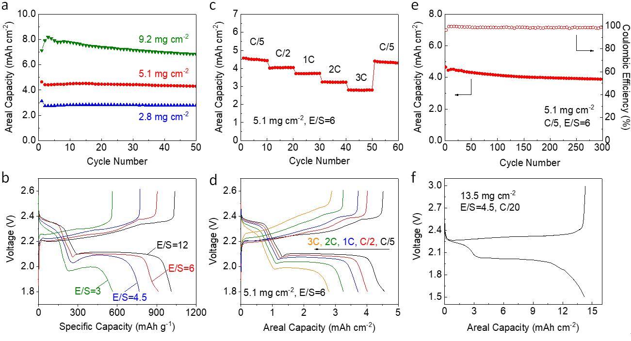 滑铁卢大学陈忠伟教授EES:管/块串联锂硫正极材料