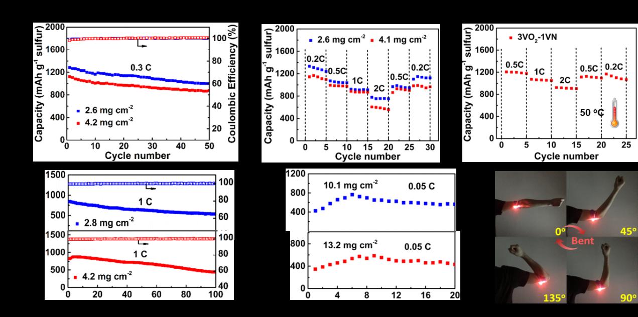 苏州大学EES:原位构建VO2-VN二元宿主材料用于锂硫电池中多硫化锂的同步抑制和转化