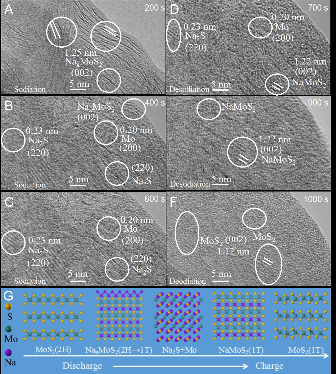 构建分层管状异质结构的MoS2/C复合材料用于钠电负极