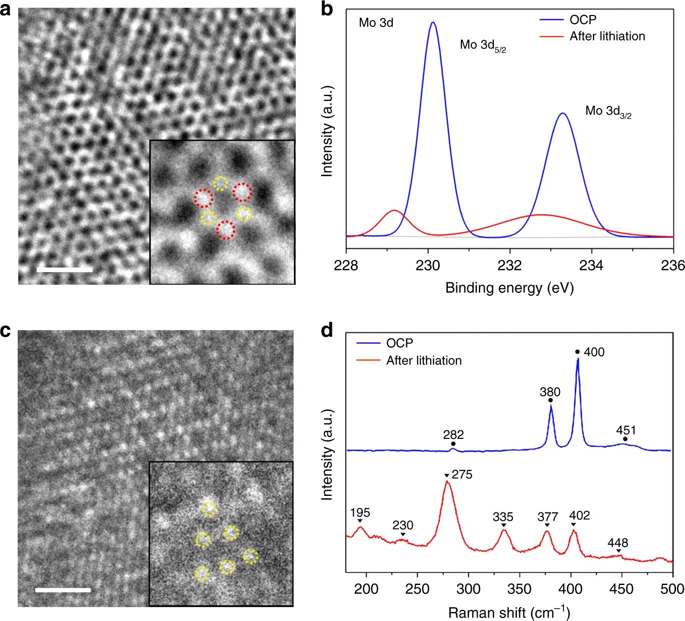 基于二硫化钼电极的超薄SEI膜演变和起皱过程