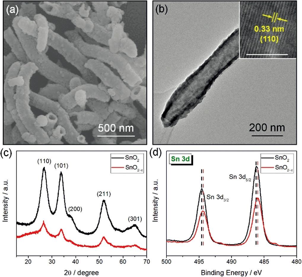 氧化锡纳米管负载黑磷量子点用于高效固氮