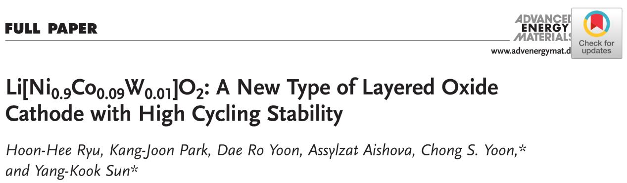 一种具有高度循环稳定性的新型层状氧化物正极