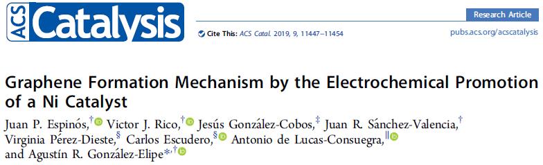ACS Catal. Ni催化制备石墨烯的形成机理