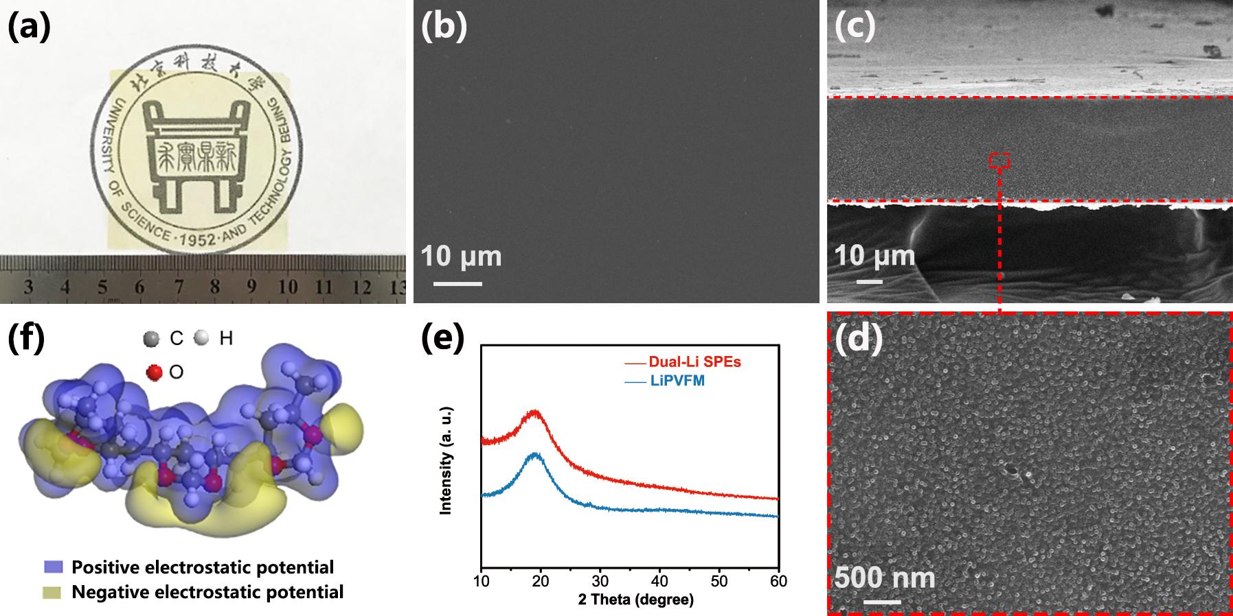 JMS膜科学--单离子导体固态聚合物电解质新进展:双锂盐型柔性电解质提高固态金属锂电池安全性