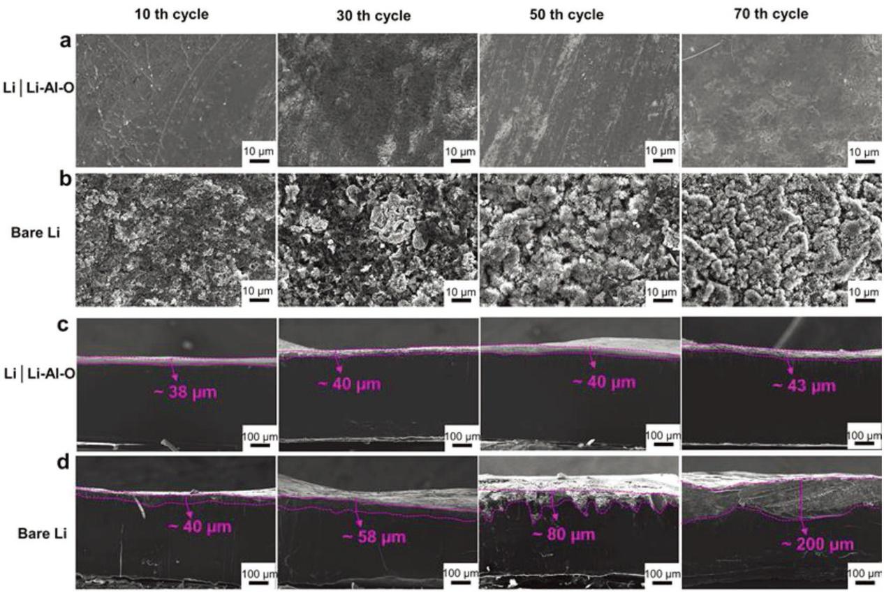 黄云辉AFM:一种新型的Li–Al–O固态电解质来保护锂负极