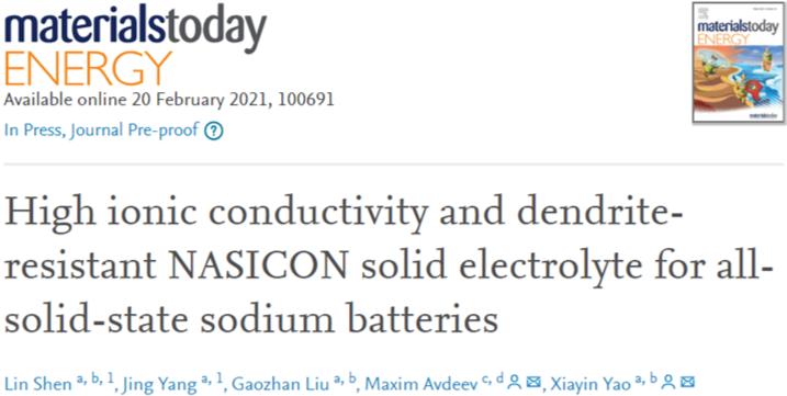 姚霞银&Maxim Avdeev:双离子共取代实现高性能NASICON钠电固态电解质