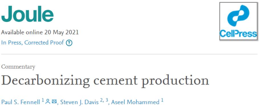 【碳中和专栏】水泥的脱碳生产