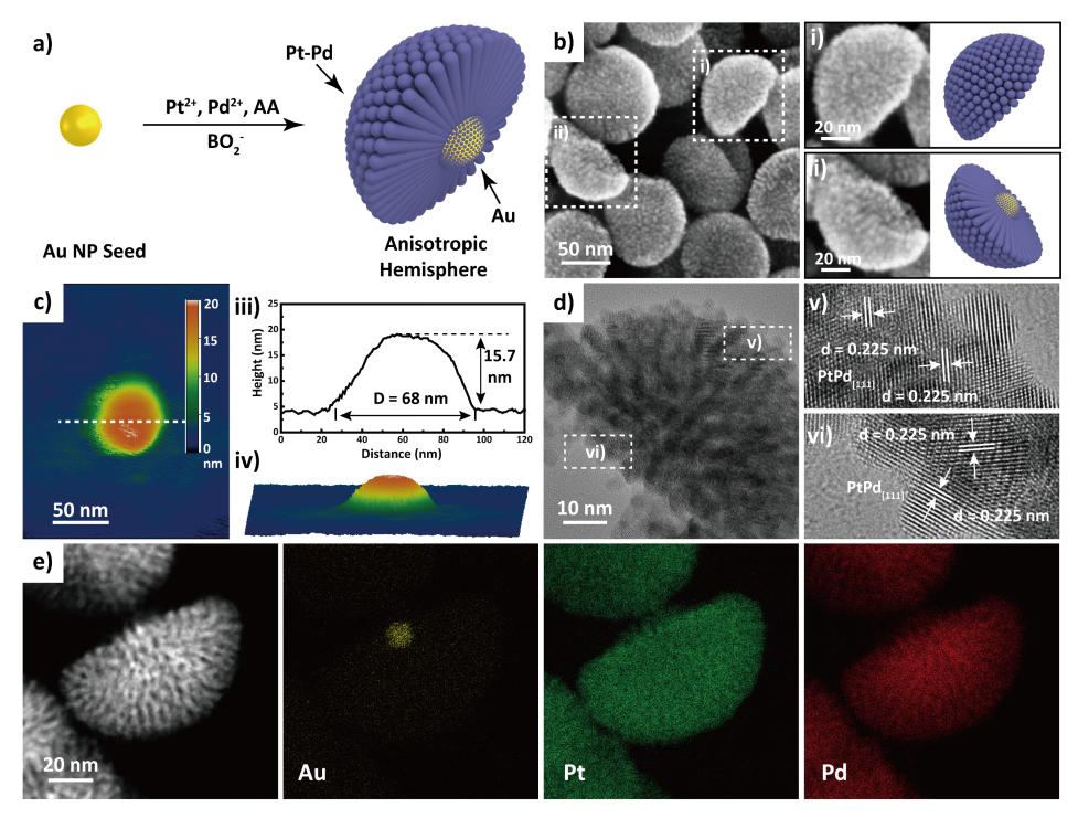 苏州大学FUNSOM江林课题组:半球状3D各向异性纳米结构用于高效电催化氧化