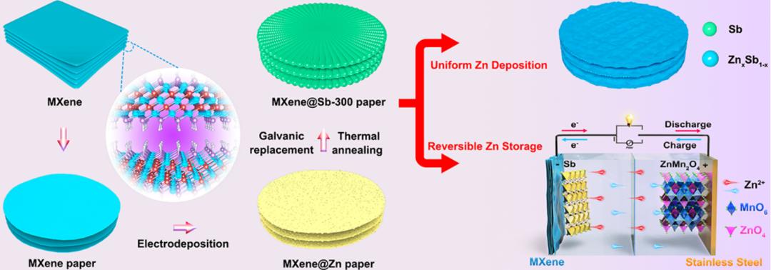 山东大学冯金奎教授EnSM:锑作为锌离子电池合金型负极和亲锌晶核